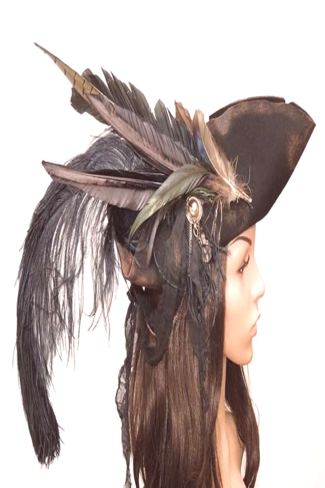 + + + Pirates Hat + + + The pirates has made of aged premium woolfelt. It is adorned with various f