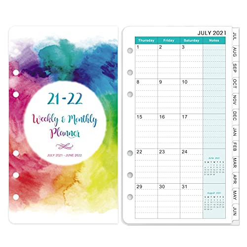 2021-2022 Planner Refills - Weekly amp Monthly Planner Refill,