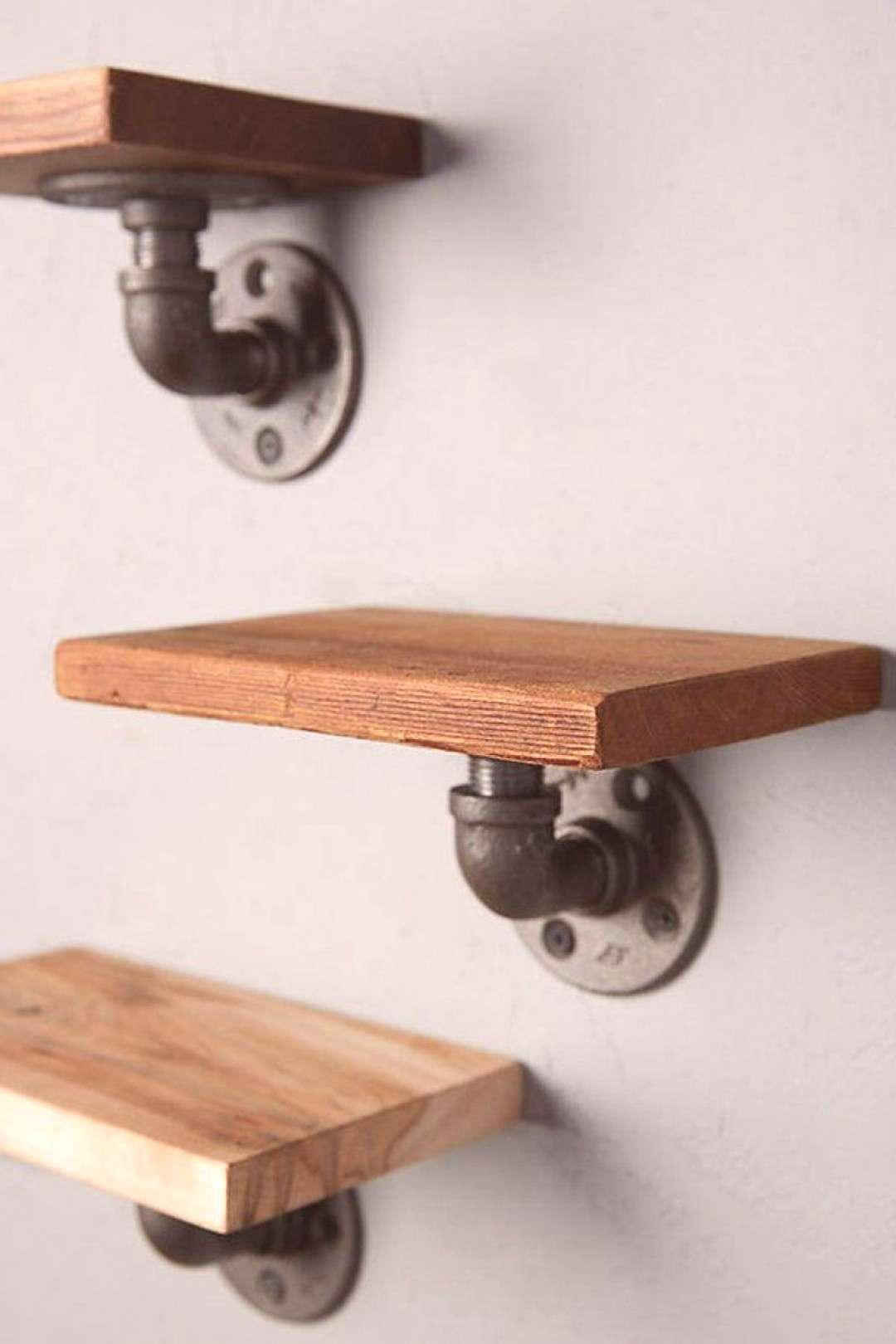 3 Piece Industrial Pipe Shelves   Etsy