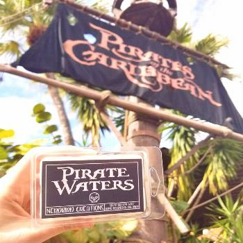 Pirate Waters wax melt soy candle Pirates of the Caribbean ride water scent