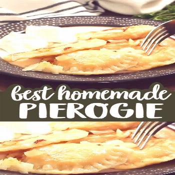 A Pittsburgh Style Homemade Pierogie is a crescent shaped dough that is filled with a mashed potato