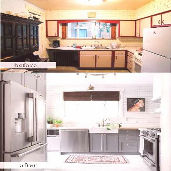 Before and After A Small Pittsburgh Kitchen Gets A Complete Makeover in 6 Days Before and After A S