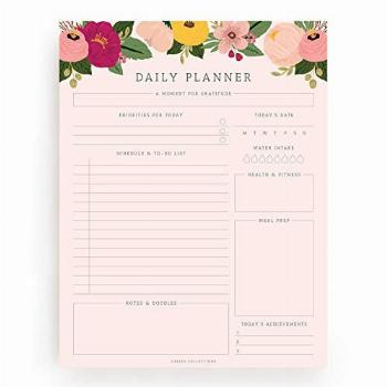 Bliss Collections Daily Planner, 50 Undated 8.5 x 11