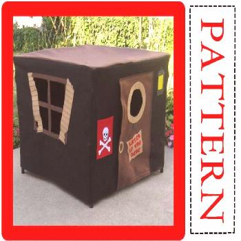 Card Table Playhouse Sewing Pattern Includes Full Alphabet Sets for Personalization  This extra spe