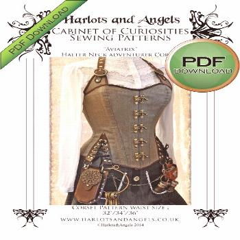 Corset Sewing Pattern,  Large size Perfect to Sew for Pirates & Steampunks, Great Design for Gothic