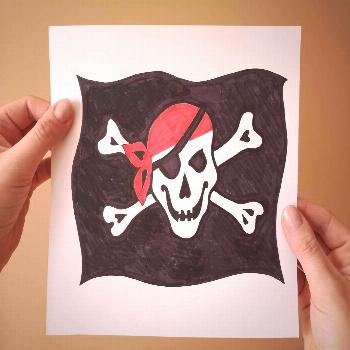 Courtesy Flag Jolly Roger by Tamed Winds Courtesy Flag Jolly Roger, Cillection Ships & Boats by Tam