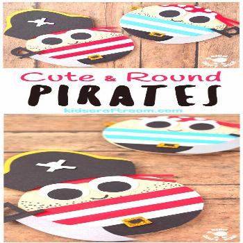 CUTE ROUND PIRATE CRAFT - Shiver me timbers this pirate craft idea is easy to make and looks fantas