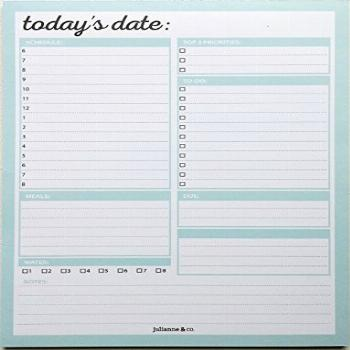 Daily To-Do Planner Notepad By Julianne & Co. - Premium
