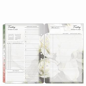 FranklinCovey Classic Blooms Two Page Per Day Ring-Bound