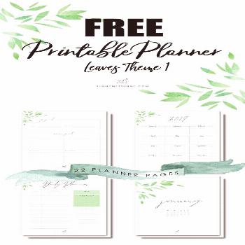 Free Printable Planner Pages - Leaves Theme 1 Since sharing is caring, we love to share our printab