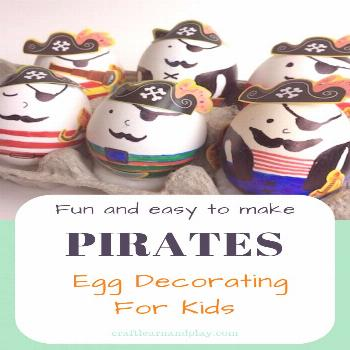 Fun and easy pirate egg decorating for little pirates Here is a great idea for little pirate lovers