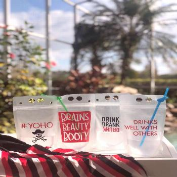 Gasparilla Pirate Party Pouches - Booze Bag - Drink Pouches - Drink Bags  Because drinking out of a