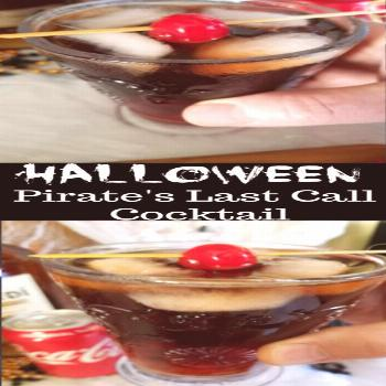 Halloween Pirate's Last Call Cocktail - Moore or Less Cooking Halloween Pirate's Last Call Cocktail