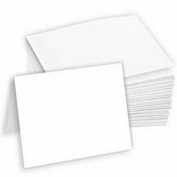 Hamilco Blank Tent Name Place Table Cards 3 1/2