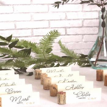 Here's a pretty wedding DIY that adds a beautiful detail with not a lot of work or investment! Wine