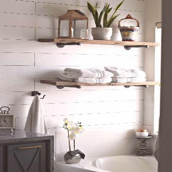 How to Make & Install Industrial Pipe Shelves Like a Pro