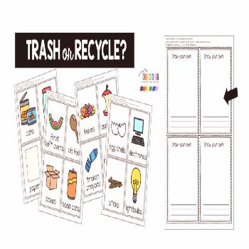 how to recycle kindergarten first grade printables