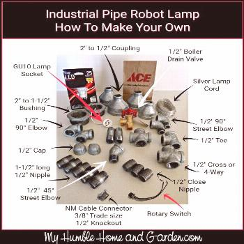 Industrial Pipe Robot Lamp - How To Make Your Own on