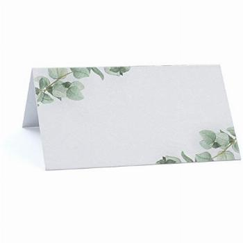 JINMURY Greenery Place Cards for Weddings or Dinner Parties,