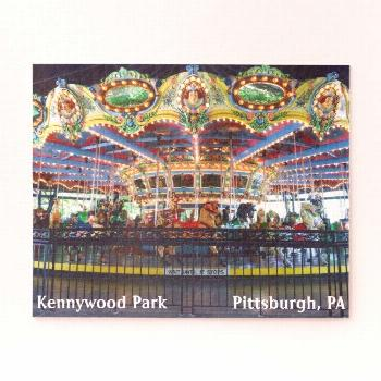 Kennywood Park Colorful Carousel Jigsaw Puzzle