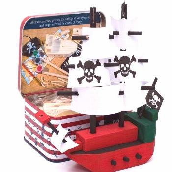 Kids craft kit build your own pirate ship This lovely children's craft kit is packed to the brim wi