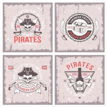 Lifestyle Of Pirates Concepts Illustration ,