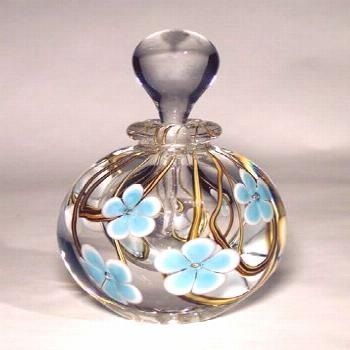 Love these glass perfume bottles.  Saw them in person at the Pittsburgh Arts Fes... -  Love these g