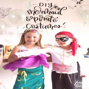 LOVE these! So cute- Mermaid and Pirate Halloween Costumes. Love the parent versions of the costume