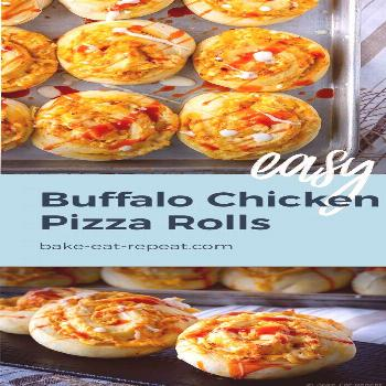 Make these easy buffalo chicken pizza rolls for the perfect weekend meal! This buffalo chicken pizz
