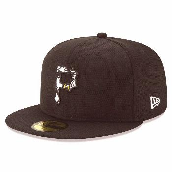 Men's New Era Black Pittsburgh Pirates 2020 Batting Practice 59FIFTY Fitted Hat