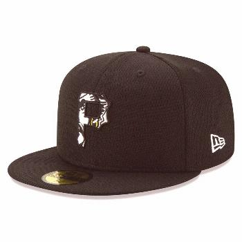 Men's New Era Black/White Pittsburgh Pirates 2020 Batting Practice 59FIFTY Fitted Hat