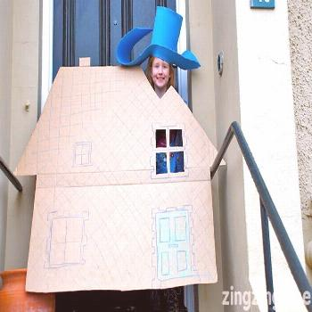 Night Pirates World Book Day Costume - Blue Bear Wood -  A large piece of cardboard and some sheets