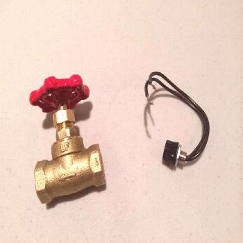 Picture of Water Valve Light Switch for a Pipe Lamp