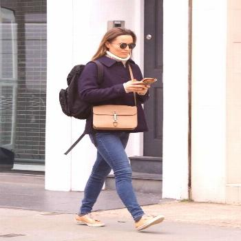 Pippa Middleton goes for a stroll in London this week and is 'overjoyed' by the news