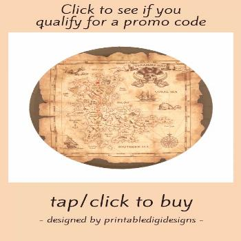 Pirate Old Vintage Treasure Map Birthday Party Paper Plate