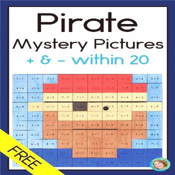 Pirates Mystery Pictures Addition and Subtraction in 20 FREE DISTANCE LEARNIN...,  ... Pirates Myst