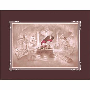 Pirates of the Caribbean Thar Be Pirates in These Parts Deluxe Print by Noah  shopDisney Pirates of