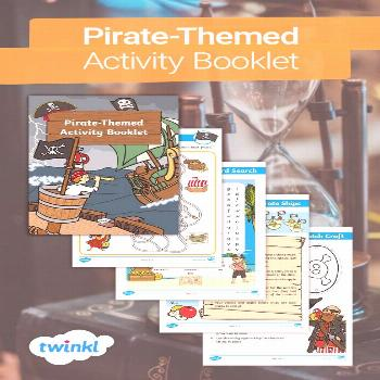 Pirate-Themed Activity Booklet!  If your child loves pirates or you're having a pirate topic at sch