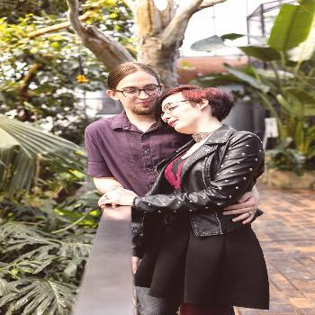 Pittsburgh Aviary Engagement [ Maya Elaine Photography ] -  A little mid session snuggle.  -