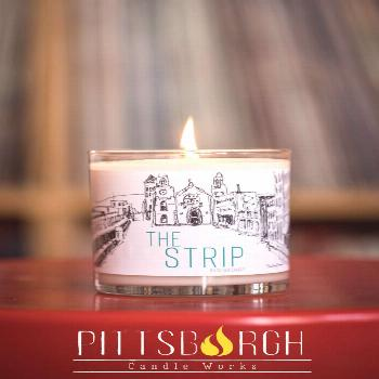 Pittsburgh Gift Idea: The Strip Soy Candle The perfect gift to remind you of your favorite part of