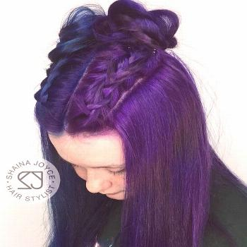 """PITTSBURGH HAIR STYLIST on Instagram: """"Outerspace galaxy hair . Color: Pulp Ri...#color"""