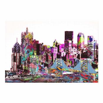 Pittsburgh, Pennsylvania in graffiti Poster |   Decorate your walls at 40% off with code SPRINGSALE
