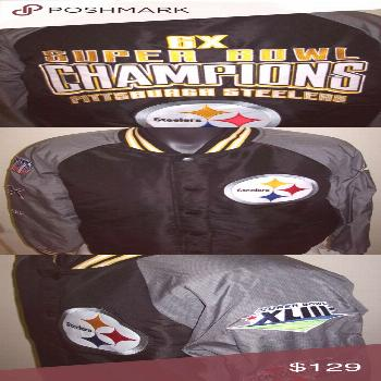 PITTSBURGH STEELERS 6 TIME SUPER BOWL CHAMP JACKET PITTSBURGH STEELERS 6 TIME SU... PITTSBURGH STEE