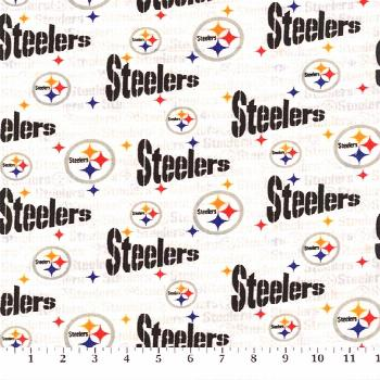 Pittsburgh Steelers Cotton Fabric White ,