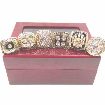 Pittsburgh Steelers Super Bowl ring Set with Display Box -  $60.00 Pittsburgh St... -  Pittsburgh S