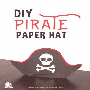 Printable Pirate Hat Template For Kids Printable Pirate Hat For Kids. Free template available to do