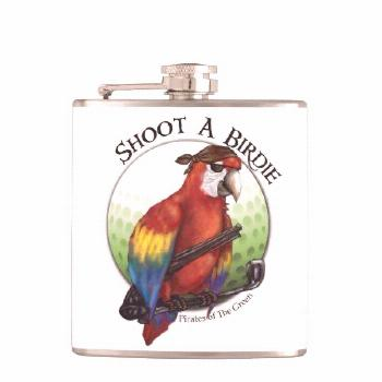 Shoot A Birdie Golf Ball Flask - tap, personalize, buy right now!
