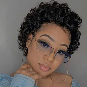 Short Curly Lace Front Wigs Human Hair Wigs for Black Women