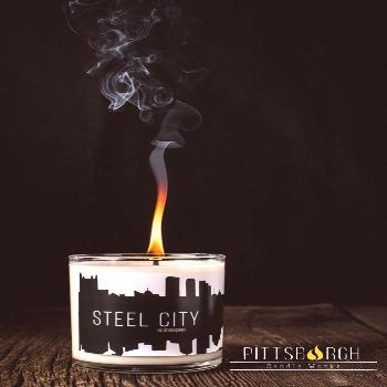 Steel City Soy Candle The perfect gift to remind you of Scented with Ylang Ylang Jasmine Bamboo & G