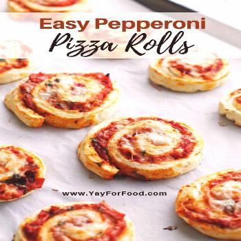 These little pizza rolls are a wonderful snack or appetizer! They are flavourful, easy to make, and